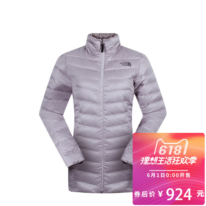Fall and Winter The North Face Down Garment for Women Outdoor 700 Peng Mid-long NF0A2U92