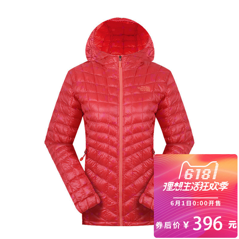 [clearing warehouse] The cotton-padded outdoor thermal ball with cap CUD4 for women in the north face in autumn and winter