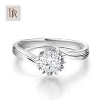 DR darryring Snowflake Genuine 1 carat diamond ring womens white 18K proposal wedding diamond ring