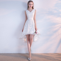 Short and long before spring and summer V collar slim dress