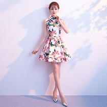 Modified modern turtleneck summer sexy girly Sleeveless cheongsam