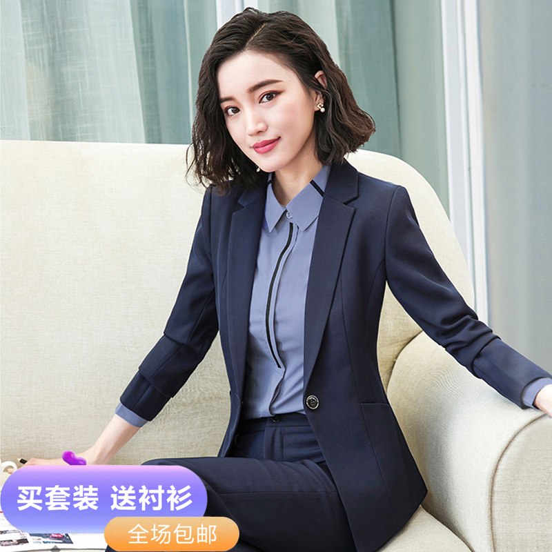 Suit suit female Korean version of autumn and winter fashion temperament goddess Fan high-end work clothes to work interview is dressed in work clothes