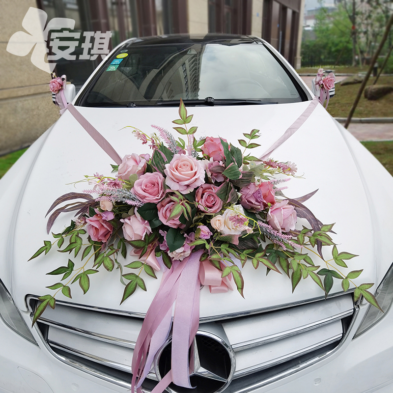 Imitation Allah wedding car decorated head flower set European knot wedding dress innovative style to greet the vice-team flower plate