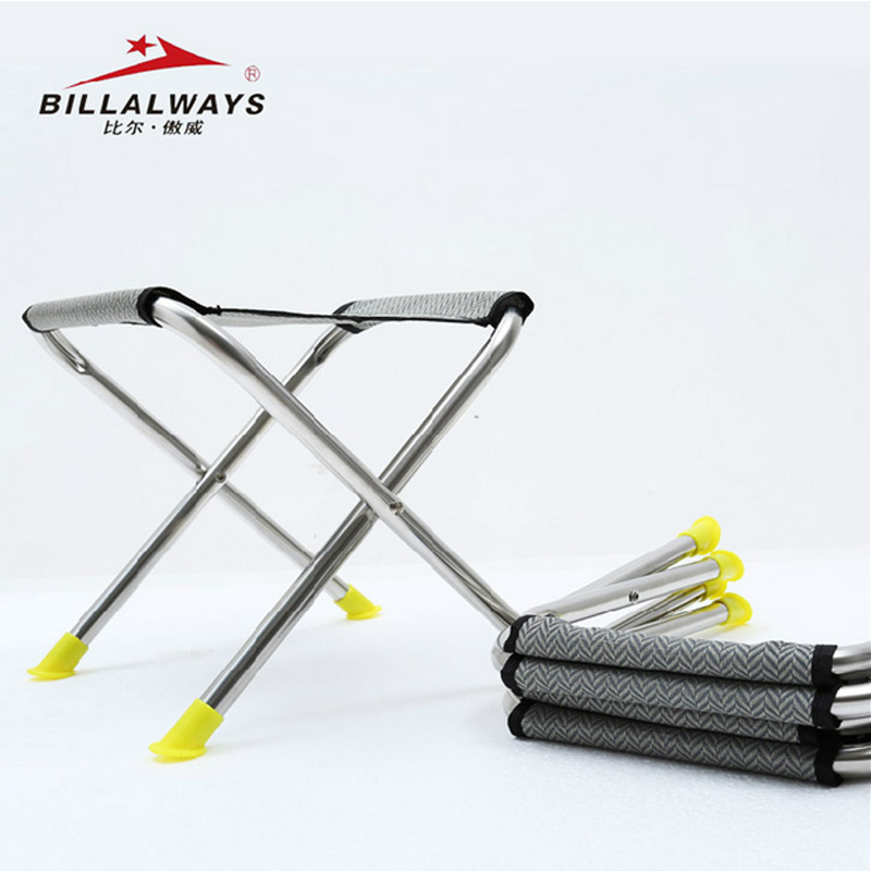 Bill Awey Fishing Chair Portable Stainless Steel Folding Stand Outdoor Sketch Bench Train Maza Bench