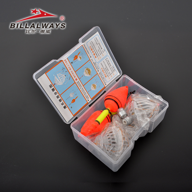 Bill AO Wei 鲢鳙 fishing group set Imported Ise fish hook explosion hook Water monster bait cage grenade box