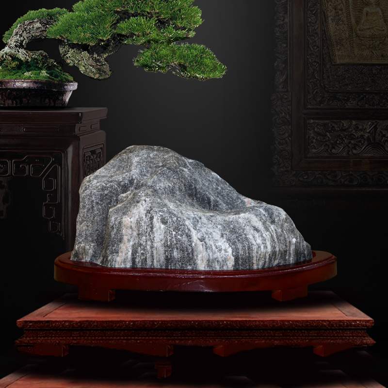Taishan stone dares when Kaiguang Taishan Fengshui raw stone Wang house to attract wealth relying on mountain stone house to make up corner home decoration
