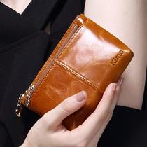 KIMO коровьей кожи кошелек монета Сумка женская натуральная кожа маленький кошелек короткий студент молнии сумка для ключей