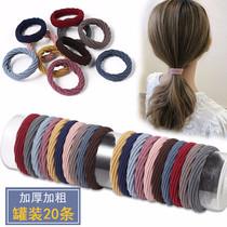 High elastic rubber band female tie head Hairband pony tail seamless head rope female simple Korean Net red hair rope summer