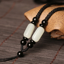 Hetian jade pendant hanging rope pendant rope jade pendant rope Jade Jade Jade Buddha pendant male and female necklace rope