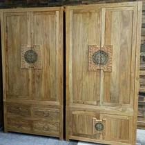 Pure solid wood bedroom storage cabinet top box cabinet to door cabinet drawer cabinet North birch wood Luban simple.