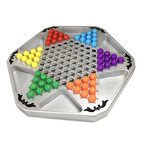Large glass ball round bead checkers Adult children puzzle Bullet chess wooden chessboard Pro Bullet beads Jumping checkers