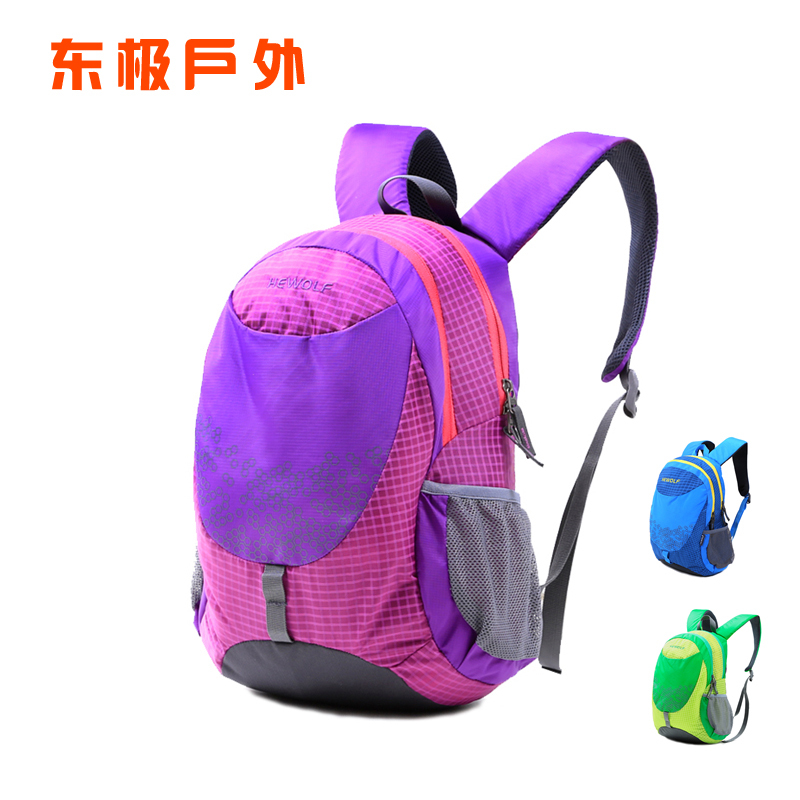 Male Wolf Outdoor Children's Backpack Travel Sports Bag Leisure Travel Boys and Girls Pupils Shoulder Bag