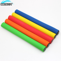 Track and field competition standard baton stainless steel baton 30cm sponge pass baton 5 packs