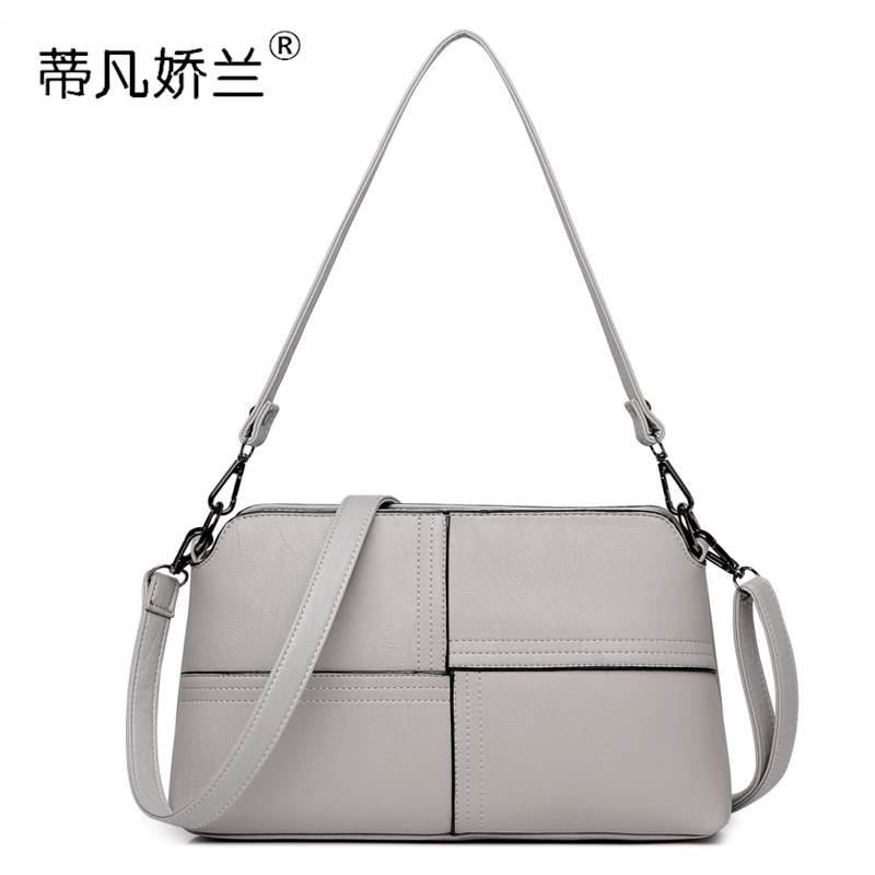 Middle-aged female bag 2018 new bag mother bag Messenger bag female fashion wild shoulder bag middle-aged small square bag