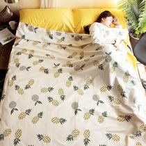 Хлопчатобумажный отель грязный спальный мешок для взрослых портативный путешествия путешествия поезд спальный артефакт двойной выход хлопчатобумажное постельное белье