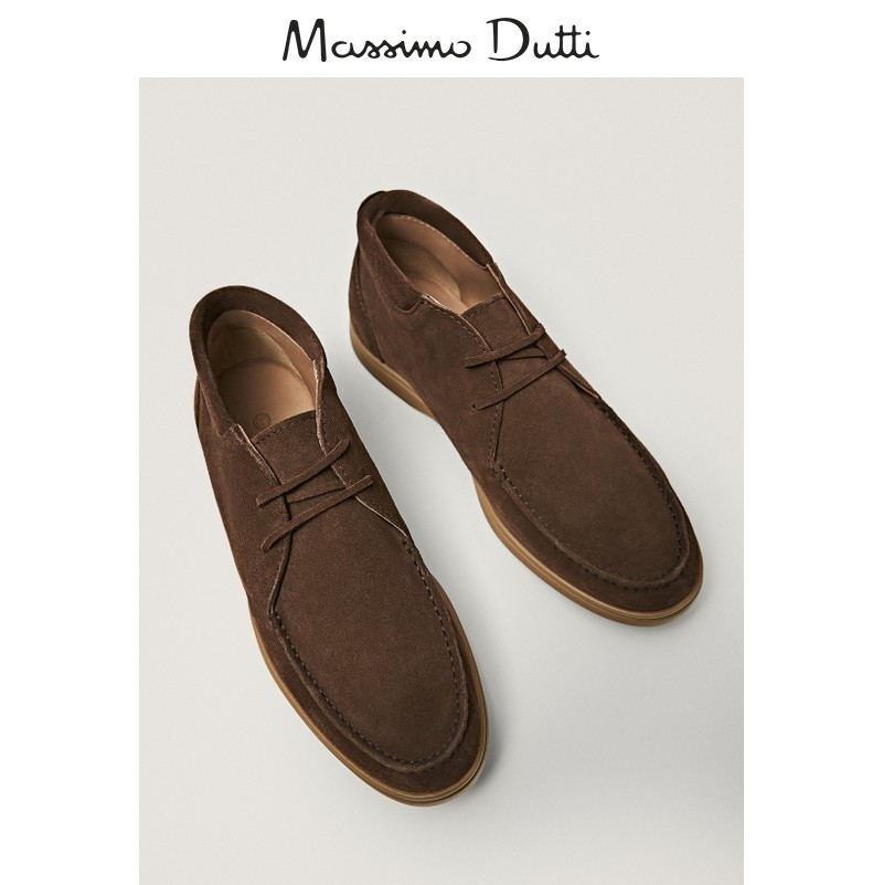 Massimo Dutti men's shoes brown high-top boat shoes 12083651700