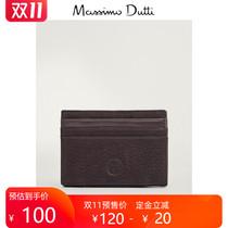 11.11 Pre-sale Massimo Dutti Mens Accessories Fall 2020 New Grinding Leather Clip 01630464700