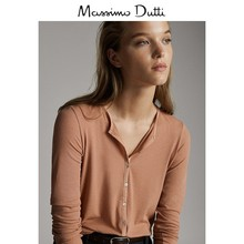 Massimo Dutti Women's Wear 2009 Autumn and Winter New Button Collar T-shirt Long Sleeve Top 06878645645