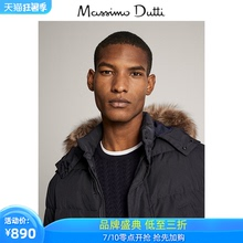 Spring / summer discount Massimo dutti men's wear with hooded Navy down jacket 03418269401