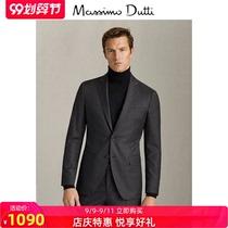 Shop Special Massimo Dutti Mens Standard Woolman Fine PrintEd Suit Jacket Dress Business Suit 02008308802