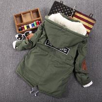 Мальчики детские зимние утолщенной среднего размера детская куртка