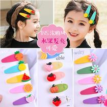 Small fresh net red wind cute ackley color flower hairpin Liu Hai clip fruit girl bb clip.