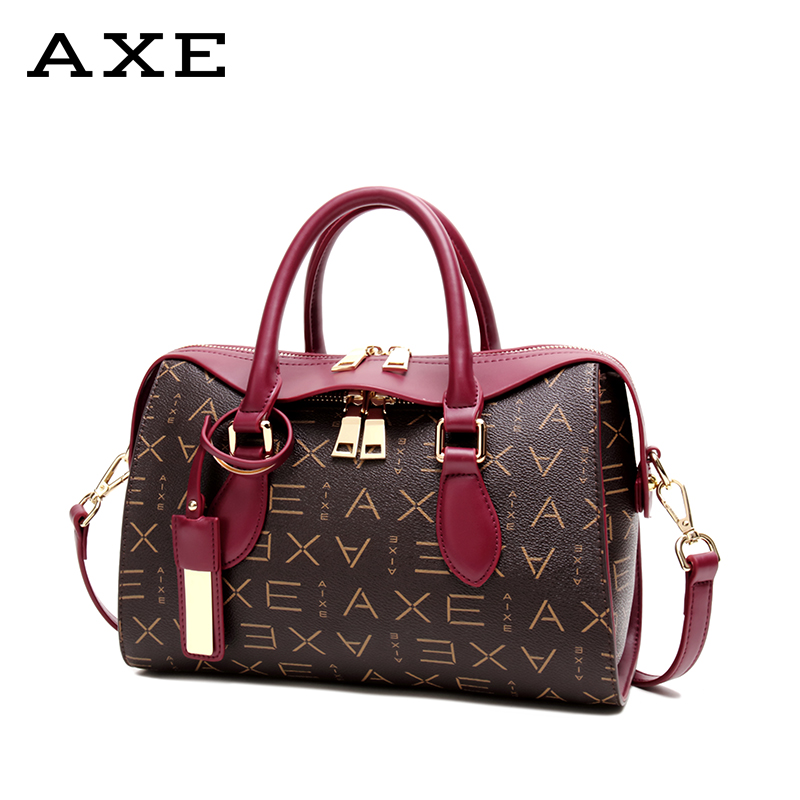 AXE ladies bag 2018 autumn and winter new middle-aged female bag shoulder bag Messenger bag Europe and the United States business handbag tide