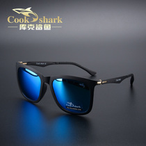 Cook shark outdoor polarizer sunglasses male driver mirror sunglasses look fish glasses fishing eyes fishing driving