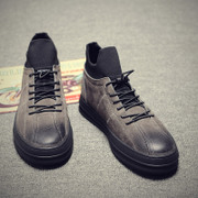 Autumn high shoes men's casual shoes trend of Korean shoes in winter and warm shoes Kobron shoes male cashmere