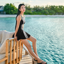 361 degree swimwear female one-piece skirt 2018 new conservative gathering covered belly slim sexy hot spring swimsuit