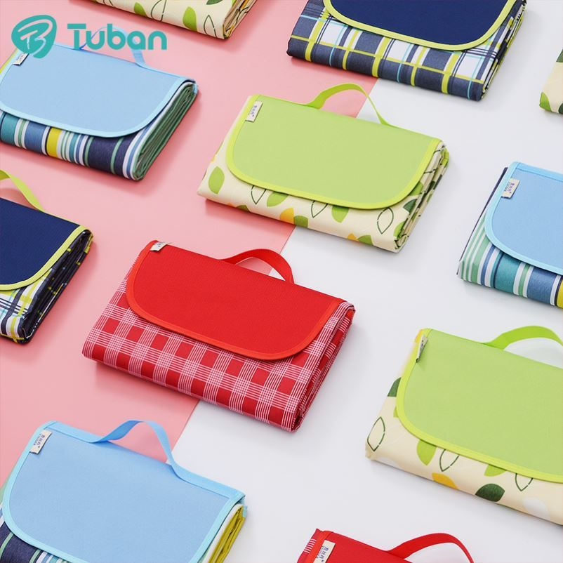 Spring and autumn super-thick outdoor waterproof picnic cloth picnic mat park moisture-proof pad to increase anti-sand outing beach mat