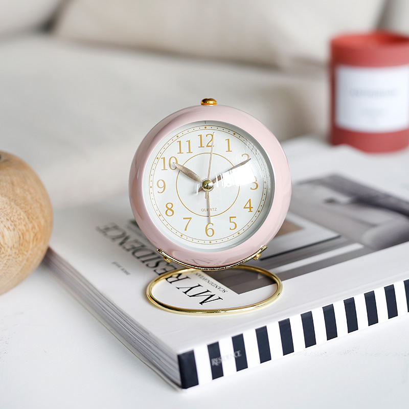 Laylike Children's Alarm Clock Silence Personality Creative Students Illuminate Watch Pendulum with Bedside Clock and Night Light