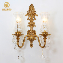 J-T Européenne All-Copper Crystal Wall Lights Living Room Living Room Background Wall Français Luxury Vintage Bedroom Head Walkway Wall Lights