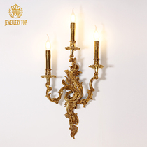 J.T. European All-Copper Wall Light Français Living Room Bedroom Head Atmospheric Corridor Atmospheric Corridor Retro Villa Creative