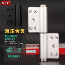 NKE invisible door hinge Hydraulic buffer silent slotless aluminum steel wooden door secret door automatic closed door hydraulic hinge