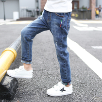 Boys Jeans Spring childrens trousers 2020 new large childrens spring and autumn pants thickening foreign spring tide