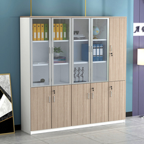 Office cabinet Bookcase Simple modern layered wardrobe File cabinet Floor-to-ceiling file cabinet Locker with lock
