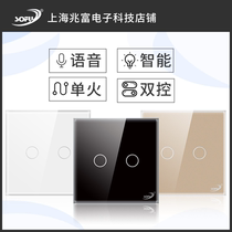 SOFU Single-Fire WiFi Double Smart Touch Switch Deux Ouvert