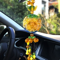 Car trailer car interior decorations high-grade glass to protect men and women in and out of the ping-up mirror pendant