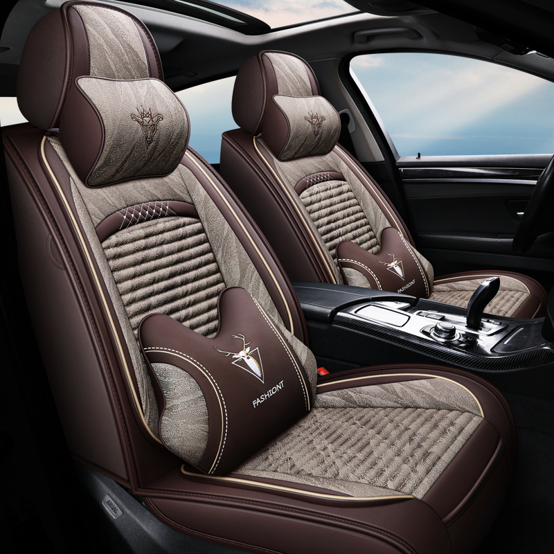 Car cushions are all surrounded by four seasons of universal ins net red seat cover summer cool mat cartoon all-inclusive stylish seat cover