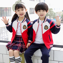 Govos new kindergarten dress spring and autumn set of primary school uniforms pure cotton class clothes mens and womens sports clothing