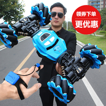 Gesture-sensing deformed remote control car boy 錶 stunt twisting driver control four-wheel drive off-road car childrens toys