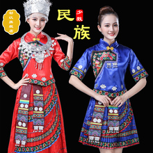 New Miao costumes, Female Minority embroidery costumes, Zhuang, Tujia, Yi, and Miao costumes