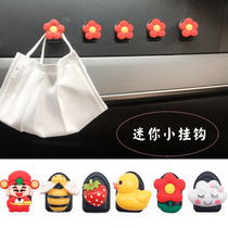 Inside the car with a hook paste front row creative cartoon lovely car multi-functional rear seat back small hook