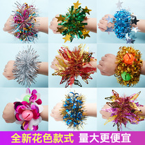 Kindergarten children dance wrist sequin cheerleaders perform bell hand flower 61 sports bracelet