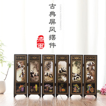 Facebook lacquerware small screen panda decoration ornaments Chinese style characteristic gifts to foreigners gift folk crafts.