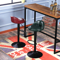 Simple bar chair home lift rotating stool European and American iron bar chair front high foot stool light luxury