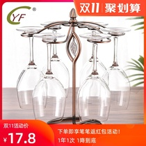 Red wine glass holder upside down high-footed cup holder Home dining room wine cabinet set piece European creative red wine glass storage layer rack