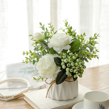 Nordic simulation plant flower art small potted ins interior home furnishing living room office desk Decoration artificial flower creativity