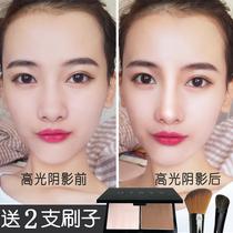 Глянцевый пластинчатый макияж носовая тень глянцевый цельный пластинчатый макияж боковая тень пудра осветляет тонкое лицо трехмерный мост носа